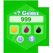 Clash Gems Calculator 2017 icon