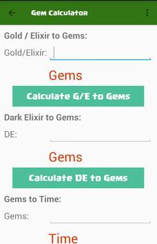 Clash Gems Calculator 2017 poster