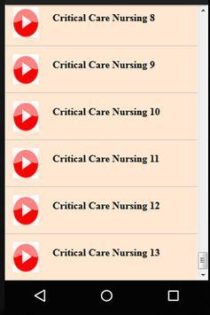 Intensive Medicine & Critical Care Nursing screenshot 1