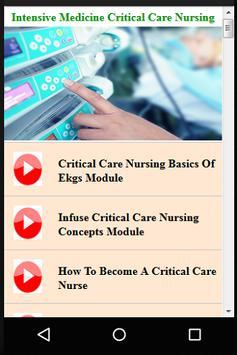 Intensive Medicine & Critical Care Nursing screenshot 4