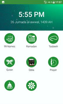 Muslim| Qibla| Salat| Quran| tasbeeh| Ramadan 2018 screenshot 5