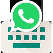 Teclado para Whatsapp - envío rápido de emoji/gif ícone