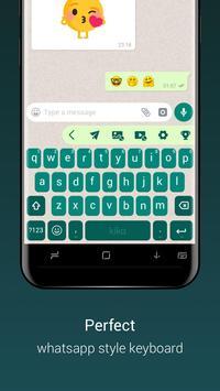 Teclado para Whatsapp - envío rápido de emoji/gif imagem de tela 3