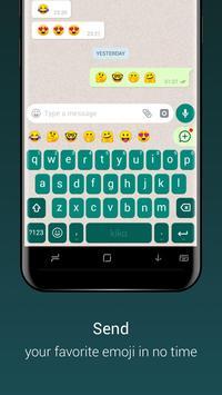 Teclado para Whatsapp - envío rápido de emoji/gif imagem de tela 4