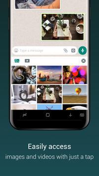 Teclado para Whatsapp - envío rápido de emoji/gif imagem de tela 5