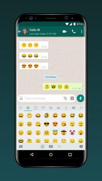 Teclado para Whatsapp - envío rápido de emoji/gif imagem de tela 7