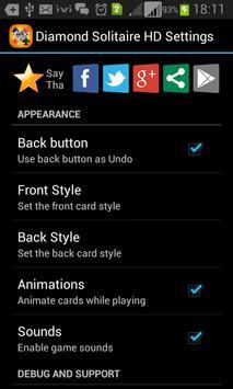 Diamond Solitaire HD Free apk screenshot