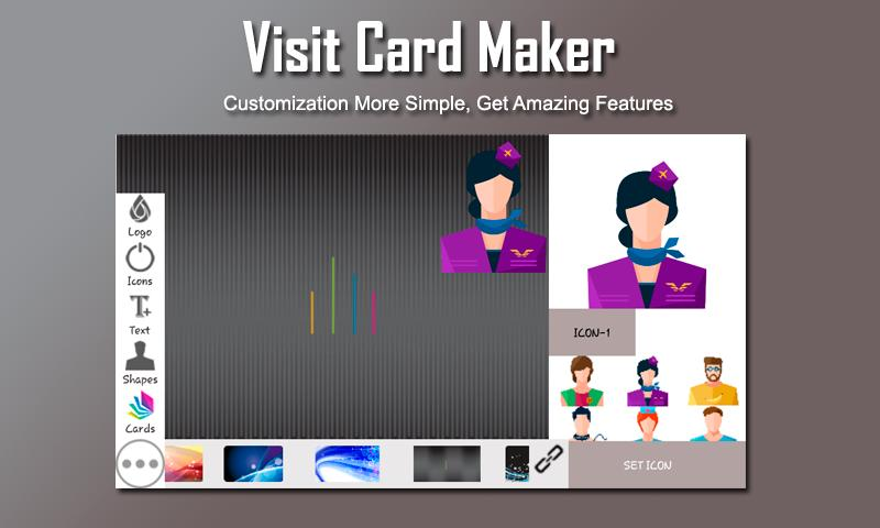 Visiting Card Maker poster