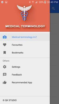 Medical terminology poster