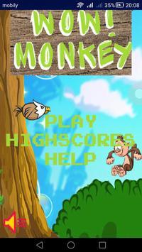 WoW! Monkey poster