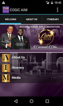 COGIC AIM Convention poster