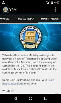 Yahweh's Restoration Ministry apk screenshot