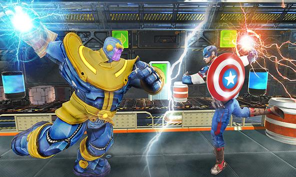 Real Future Superhero Street Fight- Thanos Battle poster