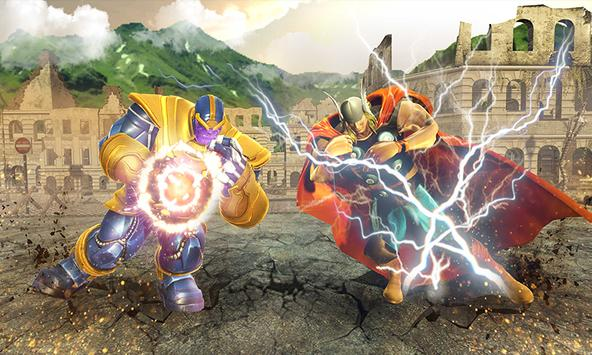 Real Future Superhero Street Fight- Thanos Battle screenshot 14