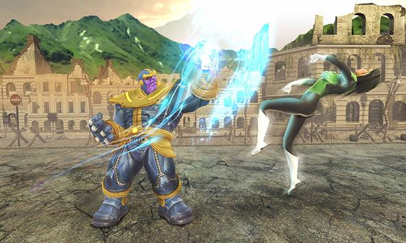 Real Future Superhero Street Fight- Thanos Battle screenshot 3