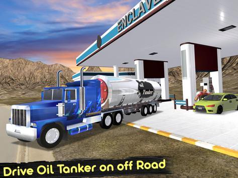 Uphill Oil Tanker Fuel Transport Sim 2018 screenshot 12