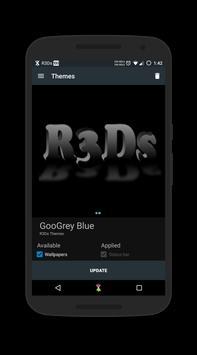 GooGrey Blue CM13 Theme poster