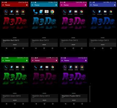 GooGrey Red CM13 Theme apk screenshot