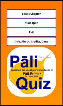 Pāli Quiz poster