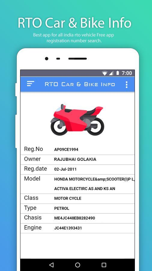 RTO Car & Bike Info for Android - APK Download