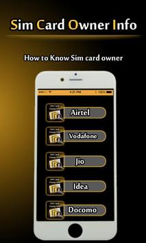 Sim Card Owner Info and check call History poster