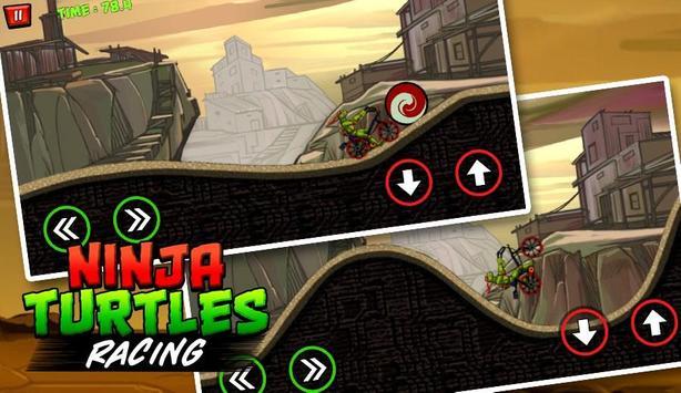 Ninja Turtle Climb Racing - Bike racer 2018 screenshot 1