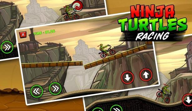 Ninja Turtle Climb Racing - Bike racer 2018 screenshot 3