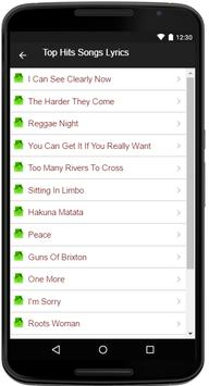Jimmy Cliff Song&Lyrics apk screenshot