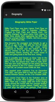 Billie Piper Song&Lyrics apk screenshot
