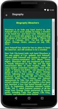 Bleachers Song&Lyrics apk screenshot