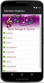 Anita Baker Song&Lyrics screenshot 1