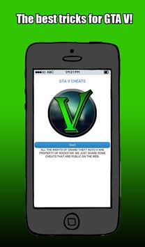 Cheats - Tricks for GTA V poster