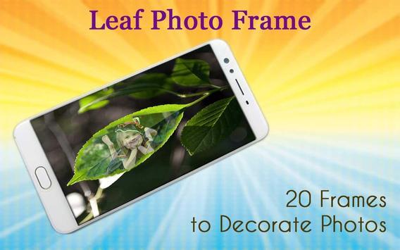 Leaf Photo Frame poster