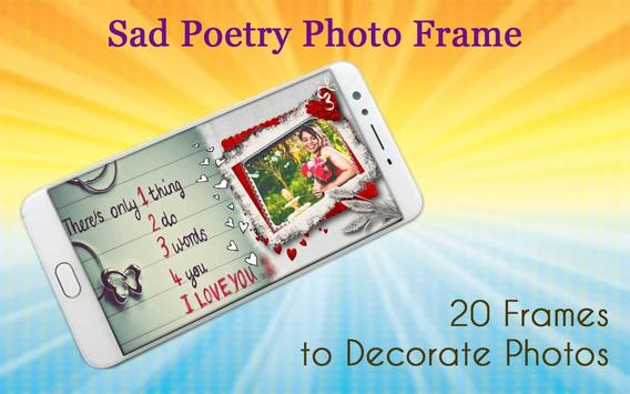 Sad Poetry Photo Frame poster