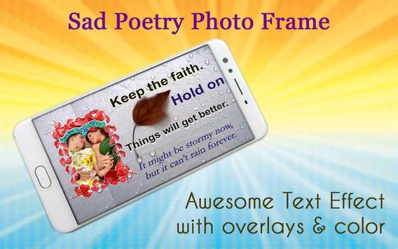 Sad Poetry Photo Frame screenshot 2