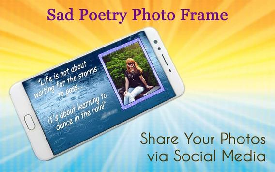 Sad Poetry Photo Frame screenshot 4