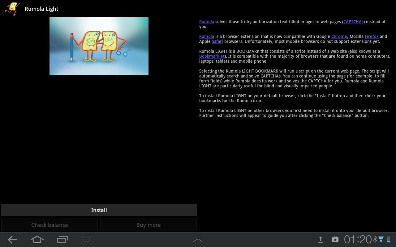 Rumola Light - bypass CAPTCHA for Android - APK Download