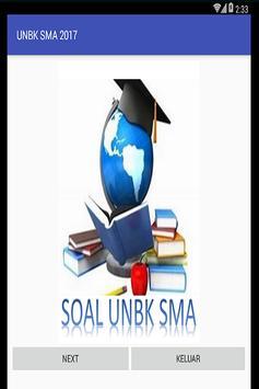 Ujian Nasional Berbasis Komputer (UNBK) SMA 2017 poster