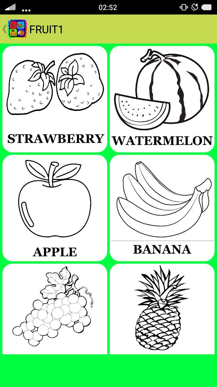Mewarnai Gambar Buah Sayuran Dan Hewan For Android APK