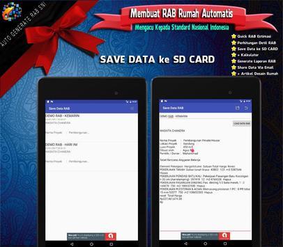 RAB Automatis : Analisa Rencana Anggaran Biaya SNI screenshot 5