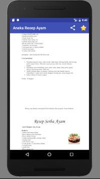 Aneka Resep Masakan : Ayam screenshot 3