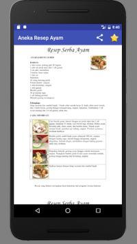 Aneka Resep Masakan : Ayam screenshot 4