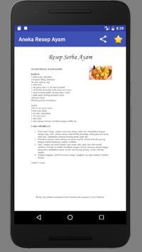 Aneka Resep Masakan : Ayam screenshot 7
