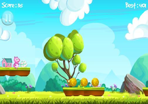 Pig Run Peppa Hopper Game apk screenshot