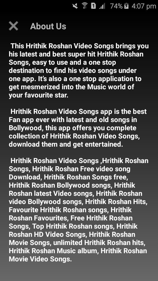 Hrithik Roshan Video Songs for Android - APK Download