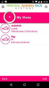 Personal Running Race History apk screenshot