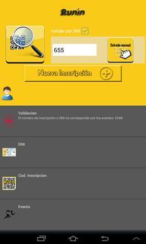 Runin.es - Validación dorsales screenshot 1
