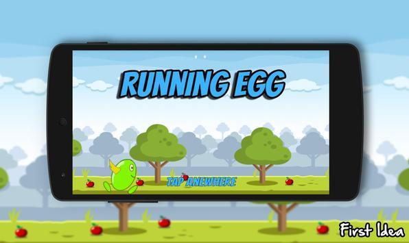 Running Egg poster
