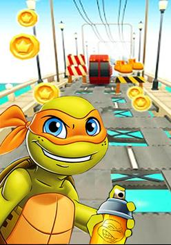 Turtles Subway Ninja apk screenshot