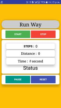 New distance counter app (Run Way) poster